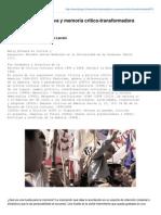 Memoria contemplativa y memoria critico transformadora - Nelly Richard.pdf