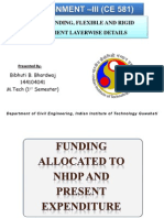 NHDP FUNDING, FLEXIBLE AND RIGID PAVEMENT LAYERWISE DETAILS