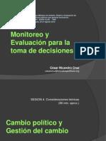 Cesar Cruz - Cambio Politico y Gestion del Cambio -sesion 4.pps
