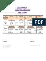 Jadual Program Lonjakan Akademik