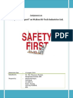 Assignment Safety Report WALTON Factory Mahmudul Haque
