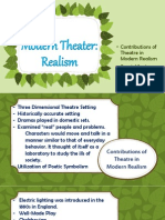 Contributions of Theatre in Modern Realism by MJLanciso