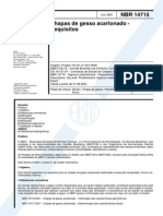 NBR 14715 - 2001 - Chapas de gesso acartonado - Requisitos.pdf