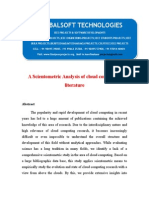 2014 IEEE .NET CLOUD COMPUTING PROJECT A Scientometric Analysis of Cloud Computing Literature