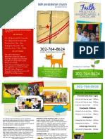 Faith Church Preschool Brochure 2009