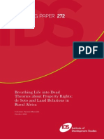 Breathing Life Into Dead Theories About Property Rights C. NYAMBU