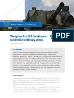 Weapons Are Not the Answers to Ukraine's Military Woes