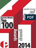 Investec Rhodes Top 100 2014 Insert