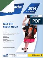 Tage der Neuen Musik 2014 - PROGRAMM