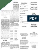 Victim Assistance Program Brochure (Spanish)
