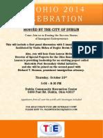 Tie Ohio 2014 Celebration Invitation