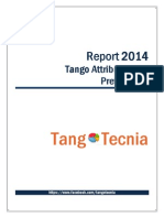 Report 2014 Tango Attributes and Preferences (English Version)