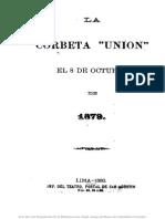 La corbeta Unión el 08 de octubre de 1879