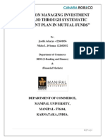 Systematic Investment Plan- SIP Project Report