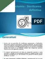 Vasectomia - Sterilizarea definitiva