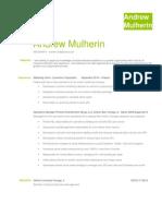 Andrew Mulherin Resume