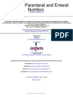 A.S.P.E.N. Clinical Guidelines - Nutrition Screening, Assessment, And Intervention in Adults, ASPEN 2011