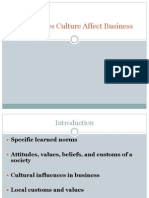 Culture and Business Ppt