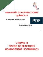 Ingeniería de las Reacciones Químicas Unidad 3