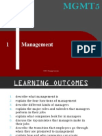 Mgmt5 - Learning Outcomes