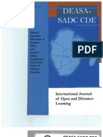 DEASA-SADC CDE International Journal of Open and Distance Learning, First Issue September 2007