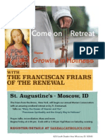 franciscan retreat poster 2014