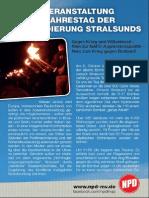 Gedenkveranstaltung zum 70. Jahrestag der Bombardierung Stralsunds