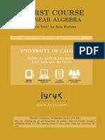 Linear Algebra MATH 211 Textbook