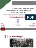 Les besoins juridiques des PME parisiennes et leurs relations avec les avocats