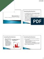 Chapter 8 Sampling Distribution