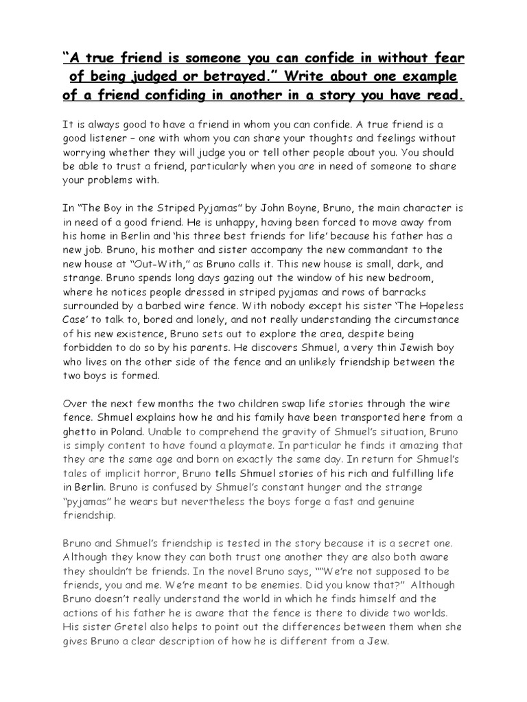 The Boy in the Striped Pajamas Essays | GradeSaver