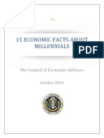 """Millennials """"15 Economic Facts about Millennials""""Report"""