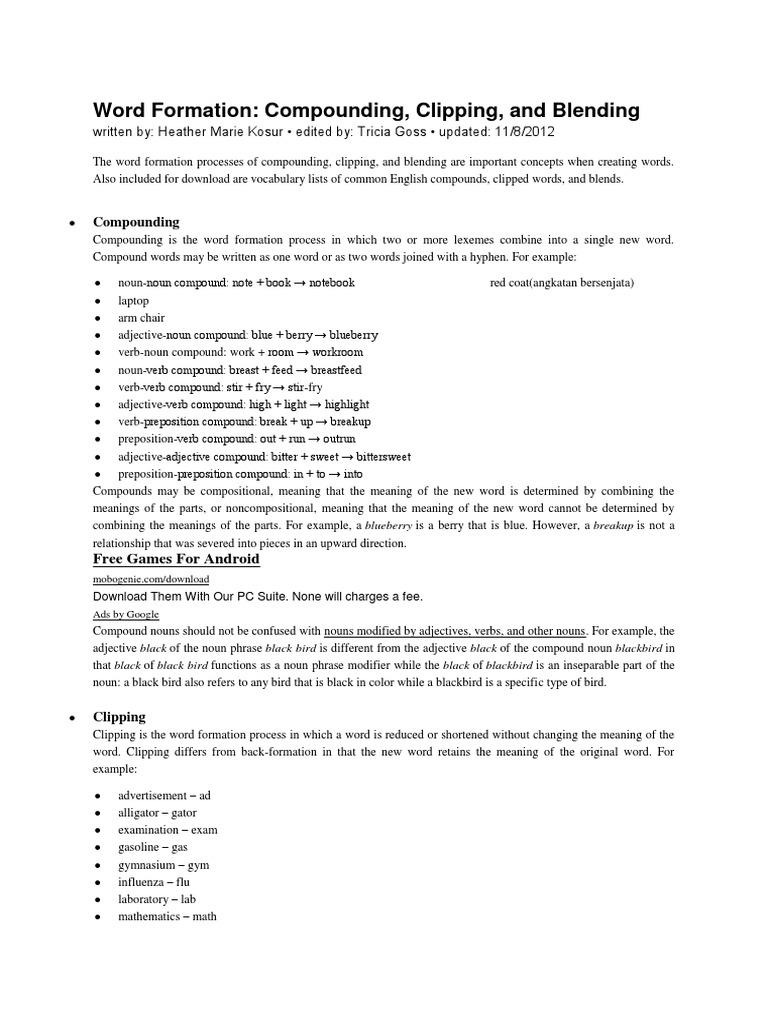bahan ajar morfology docx | Acronym | English Language