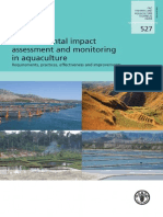 FAO Environmental Impact Assessment and Monitoring in Aquaculture TP 527 Unknown