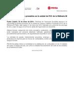 20_01_14NOTA DE PRENSA - PDVSA ANUNCIA PARADA PREVENTIVA EN UNIDAD DE FCC DE LA REP.doc