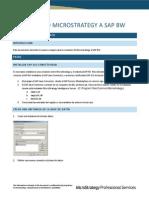 Conectando Microstrategy a SAP BW.DOCX