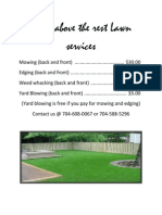 Lawn Services layout