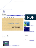 Feasibility Report -Basic Concepts With Example
