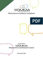 WOMA - WOM Metrics Best Practice Guidebook