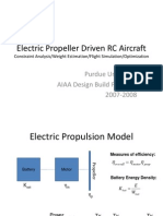 Electric Propeller Aircraft Sizing