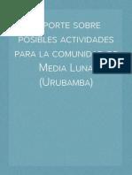 Reporte sobre posibles actividades económicas para la Comunidad de Media Luna (Urubamba)