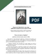Allan Kardec - Resposta a Um Artigo Da Gazeta de Lyon