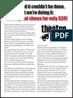 Theatre Kent's 2014/15 season