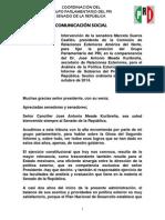 09-10-14 Palabras Marcela Guerra - Comparecencia Secretario de Relaciones Exteriores