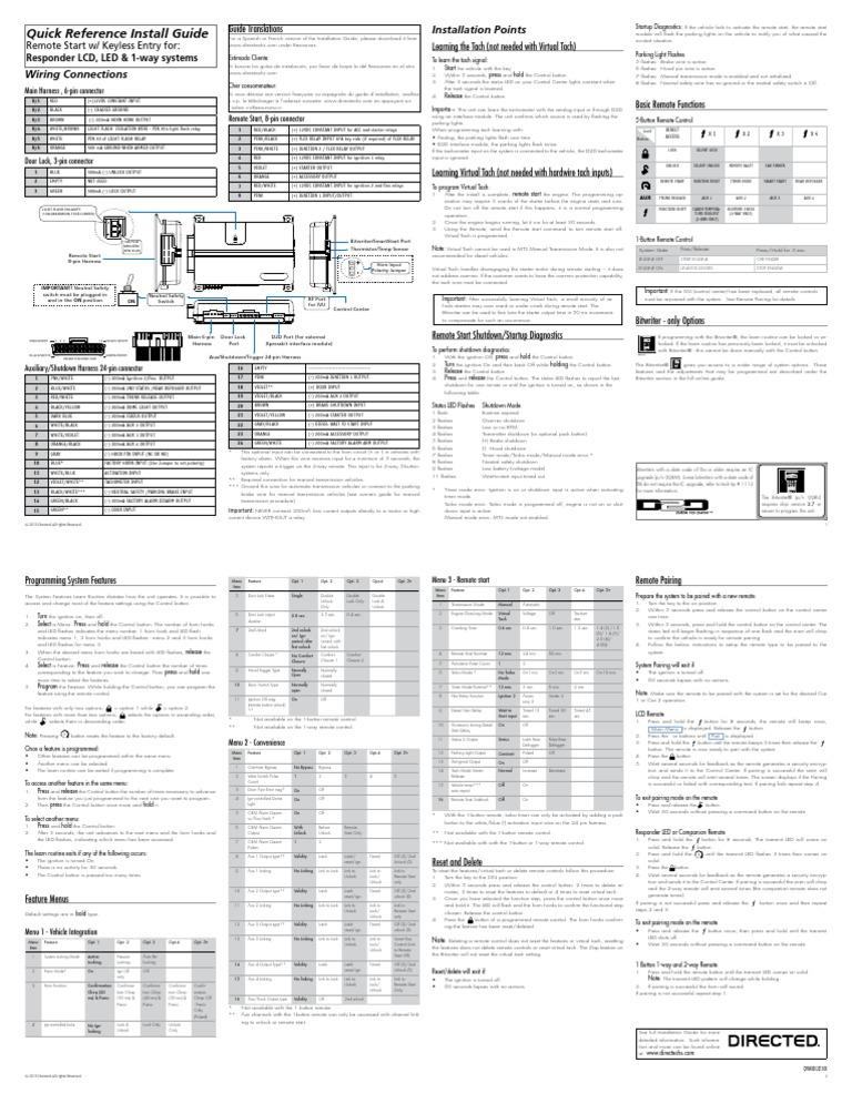viper 4105v wiring diagram viper 3105v