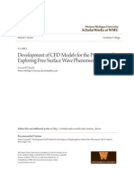 Development of CFD Models for the Purposes of Exploring Free Surf