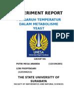 Experiment Report Temperatur Pd Metabolisme Yeast