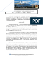 VI COLOQUIO DE HISTORIAS REGIONALES - 2, 3, 4 y 5 de diciembre del 2014 - AREQUIPA
