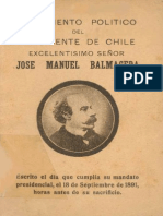 Material de clases. Testamento Político de José Manuel Balmaceda.pdf