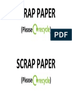 SCRAP PAPER Please Recycle Index